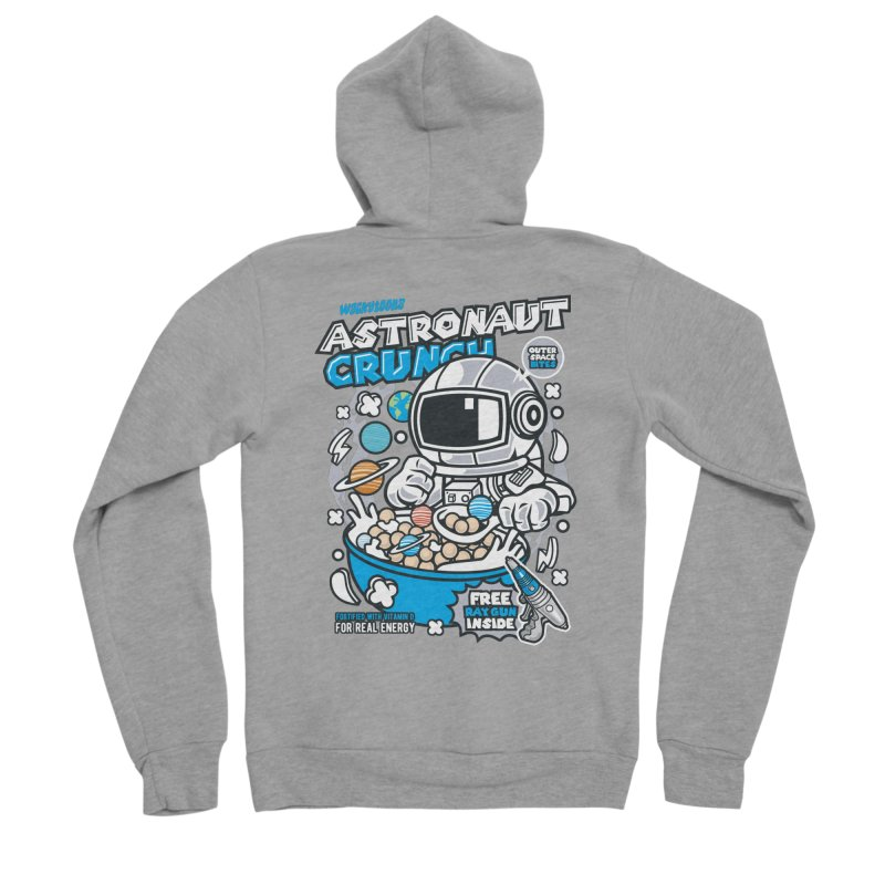 Astronaut Crunch Cereal Men's Sponge Fleece Zip-Up Hoody by WackyToonz
