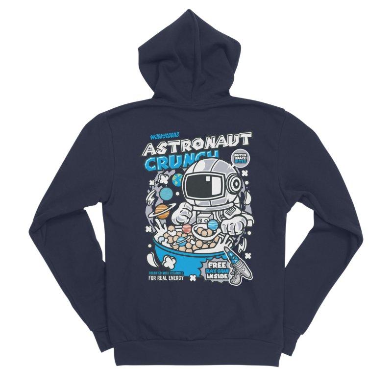 Astronaut Crunch Cereal Men's Sponge Fleece Zip-Up Hoody by WackyToonz