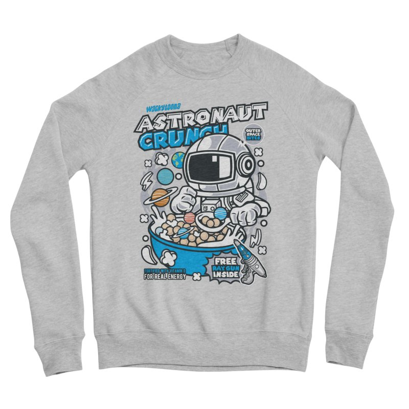 Astronaut Crunch Cereal Men's Sponge Fleece Sweatshirt by WackyToonz