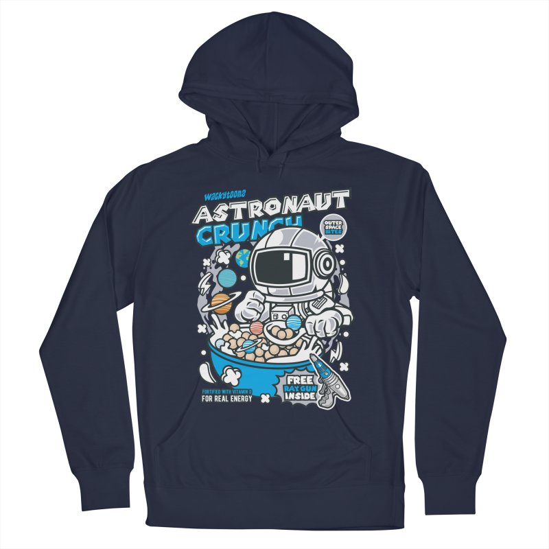 Astronaut Crunch Cereal Men's French Terry Pullover Hoody by WackyToonz