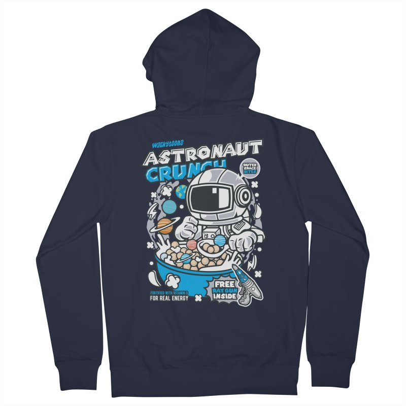 Astronaut Crunch Cereal Women's French Terry Zip-Up Hoody by WackyToonz