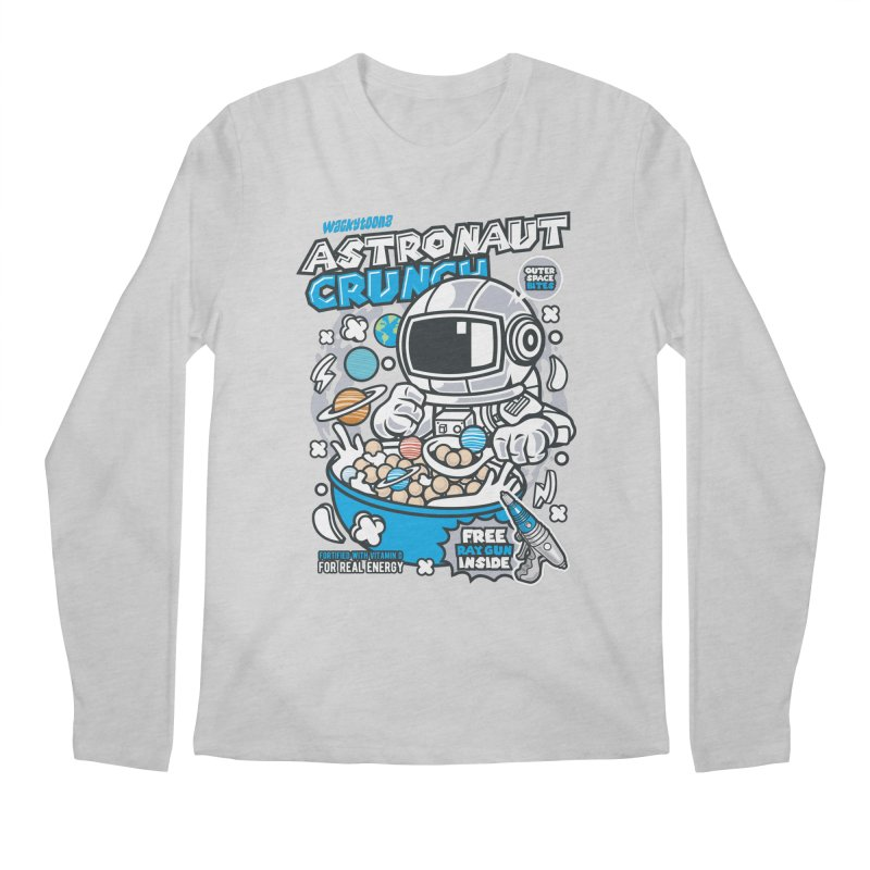 Astronaut Crunch Cereal Men's Regular Longsleeve T-Shirt by WackyToonz
