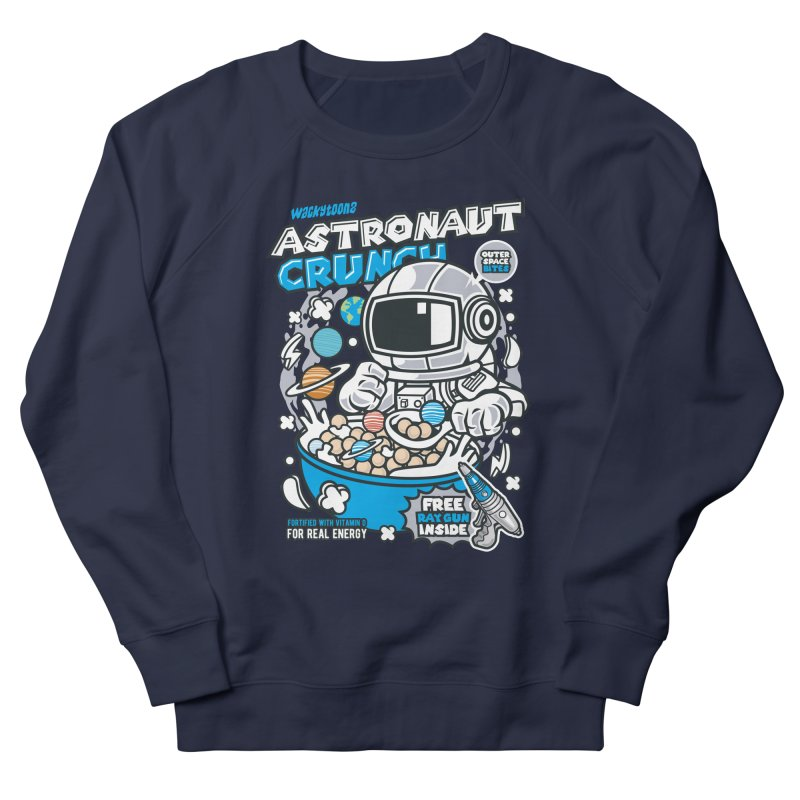 Astronaut Crunch Cereal Men's French Terry Sweatshirt by WackyToonz