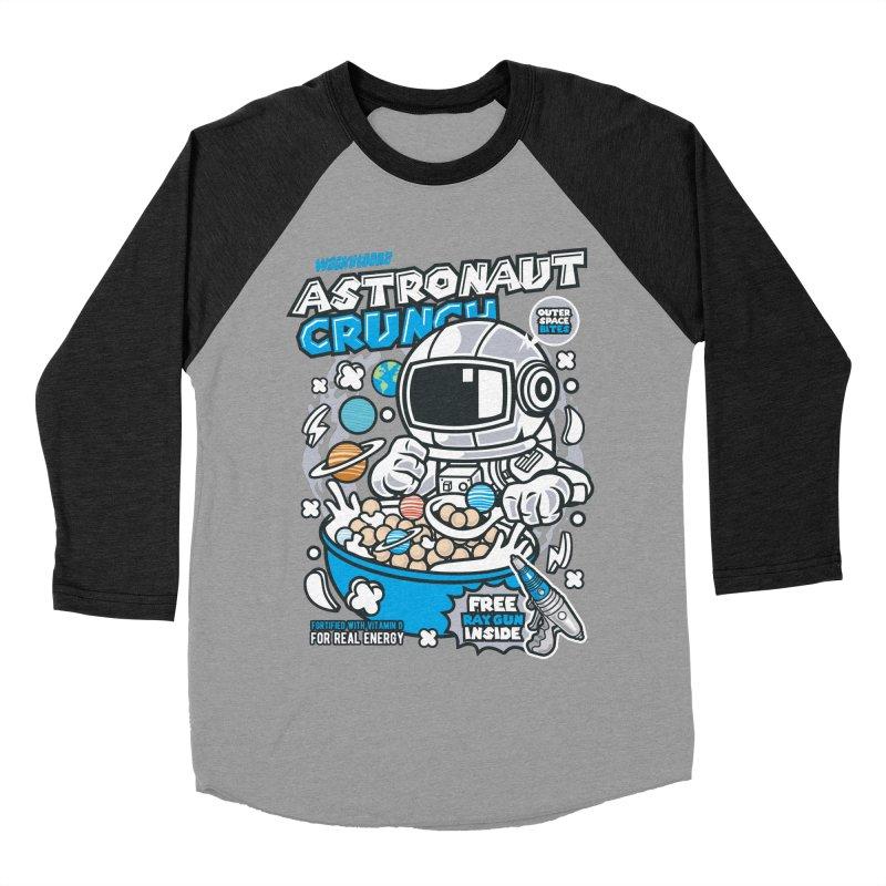 Astronaut Crunch Cereal Women's Baseball Triblend Longsleeve T-Shirt by WackyToonz