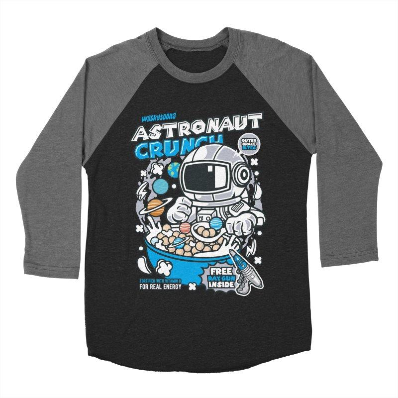 Astronaut Crunch Cereal Men's Baseball Triblend Longsleeve T-Shirt by WackyToonz