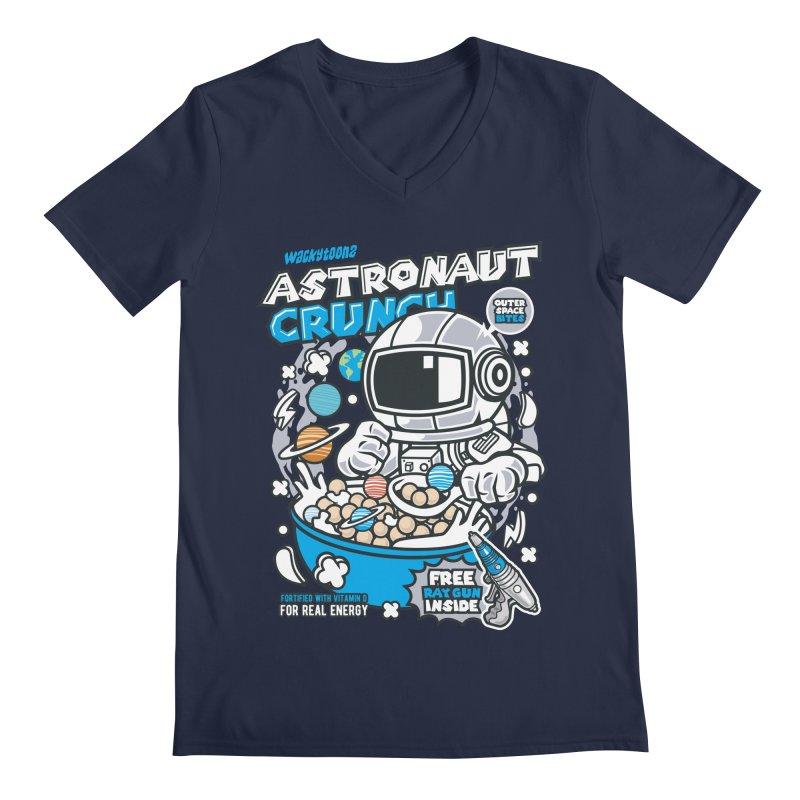 Astronaut Crunch Cereal Men's V-Neck by WackyToonz