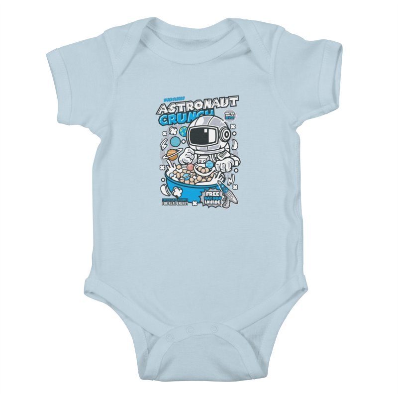 Astronaut Crunch Cereal Kids Baby Bodysuit by WackyToonz