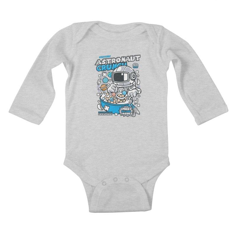 Astronaut Crunch Cereal Kids Baby Longsleeve Bodysuit by WackyToonz