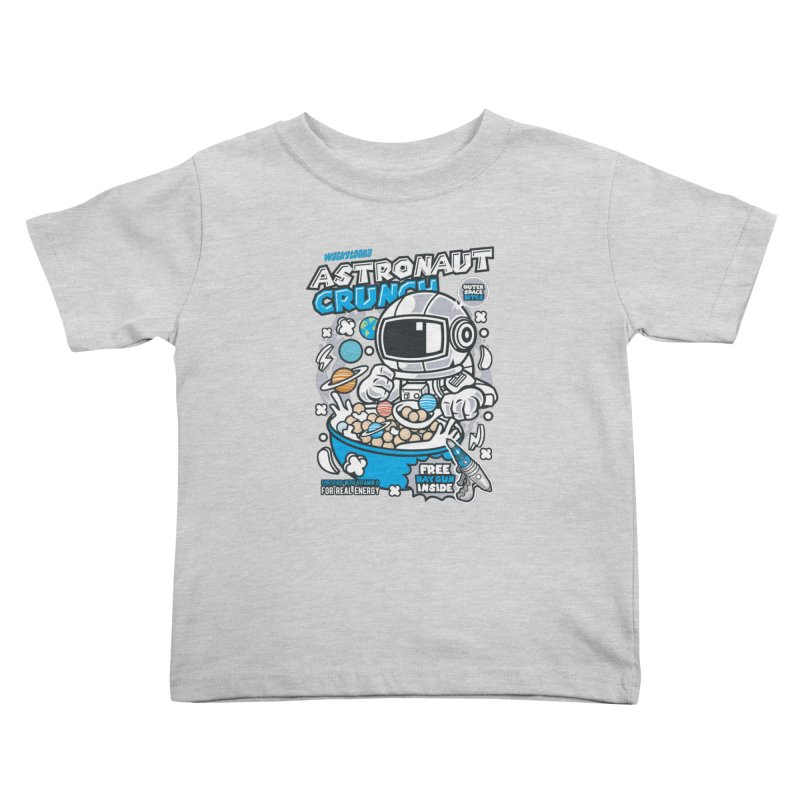 Astronaut Crunch Cereal Kids Toddler T-Shirt by WackyToonz