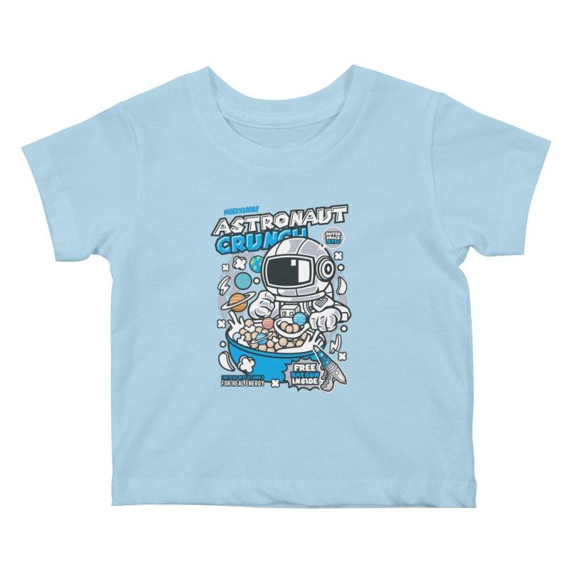 Astronaut Crunch Cereal Kids Baby T-Shirt by WackyToonz