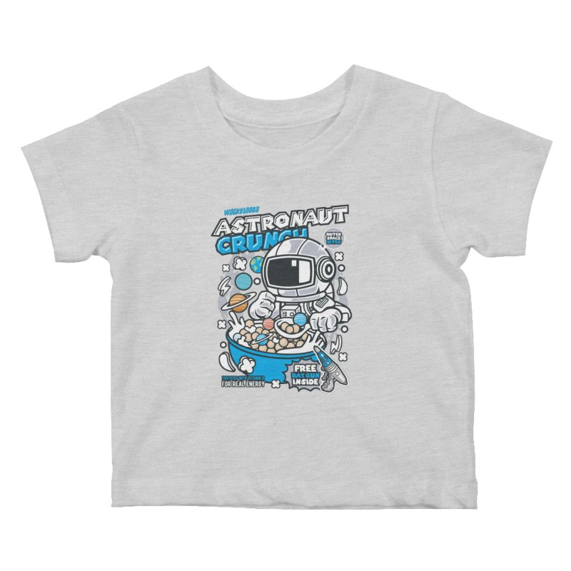 Astronaut Crunch Cereal Kids Baby T-Shirt by WackyToonz