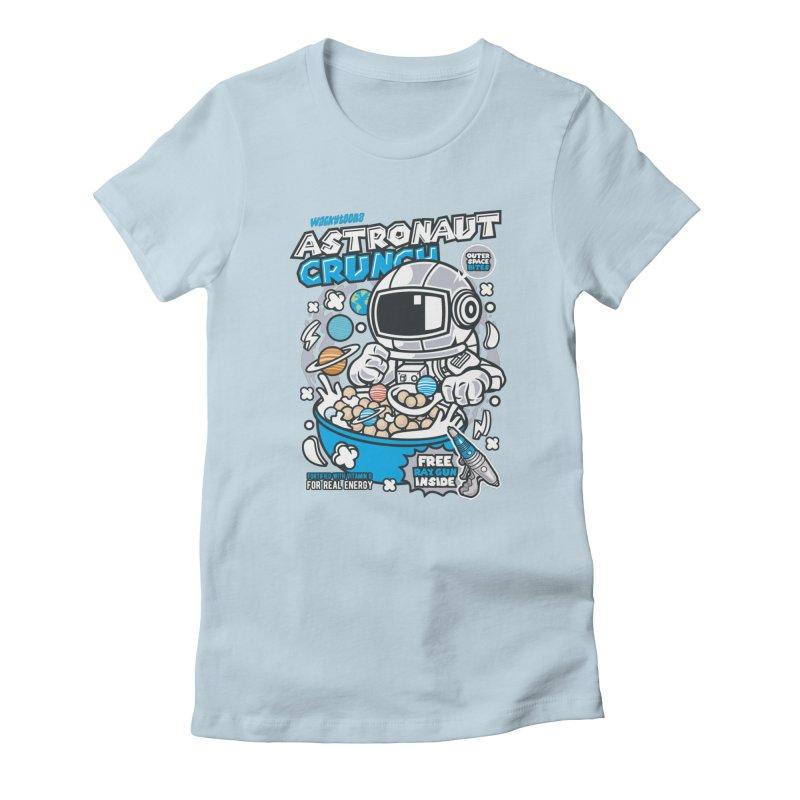Astronaut Crunch Cereal Women's T-Shirt by WackyToonz