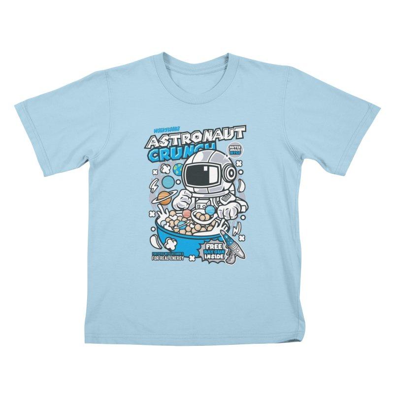 Astronaut Crunch Cereal Kids T-Shirt by WackyToonz