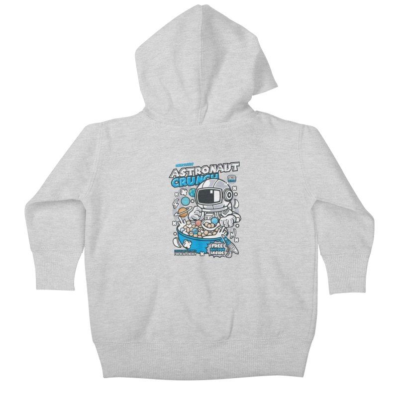 Astronaut Crunch Cereal Kids Baby Zip-Up Hoody by WackyToonz