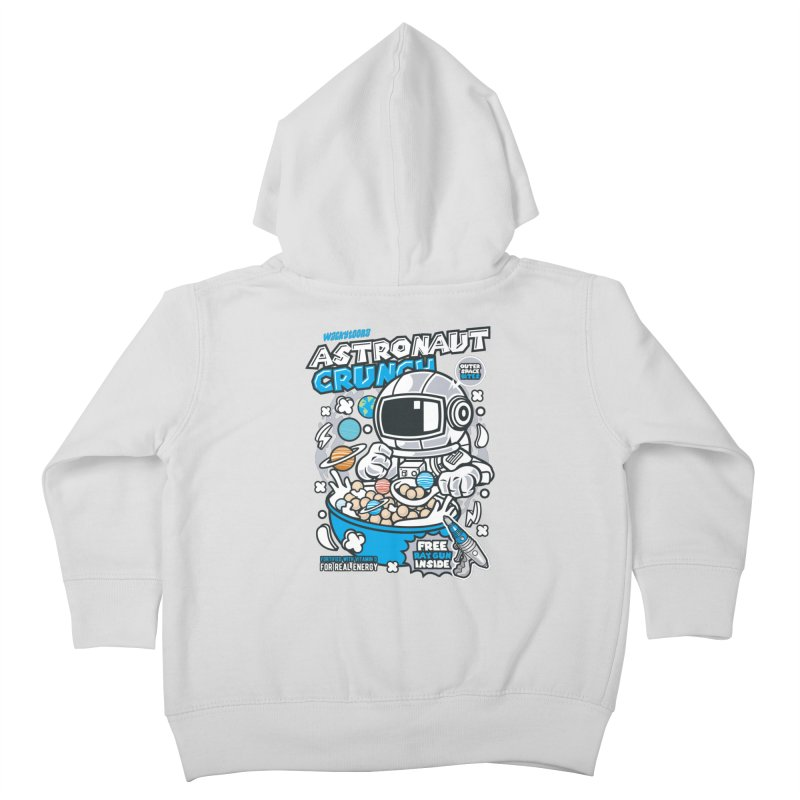 Astronaut Crunch Cereal Kids Toddler Zip-Up Hoody by WackyToonz