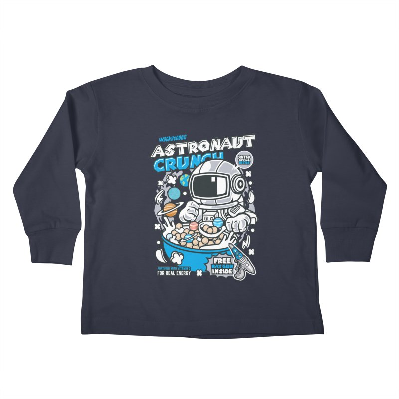 Astronaut Crunch Cereal Kids Toddler Longsleeve T-Shirt by WackyToonz