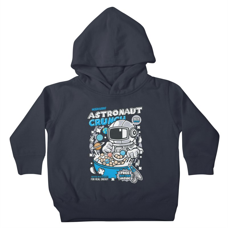 Astronaut Crunch Cereal Kids Toddler Pullover Hoody by WackyToonz