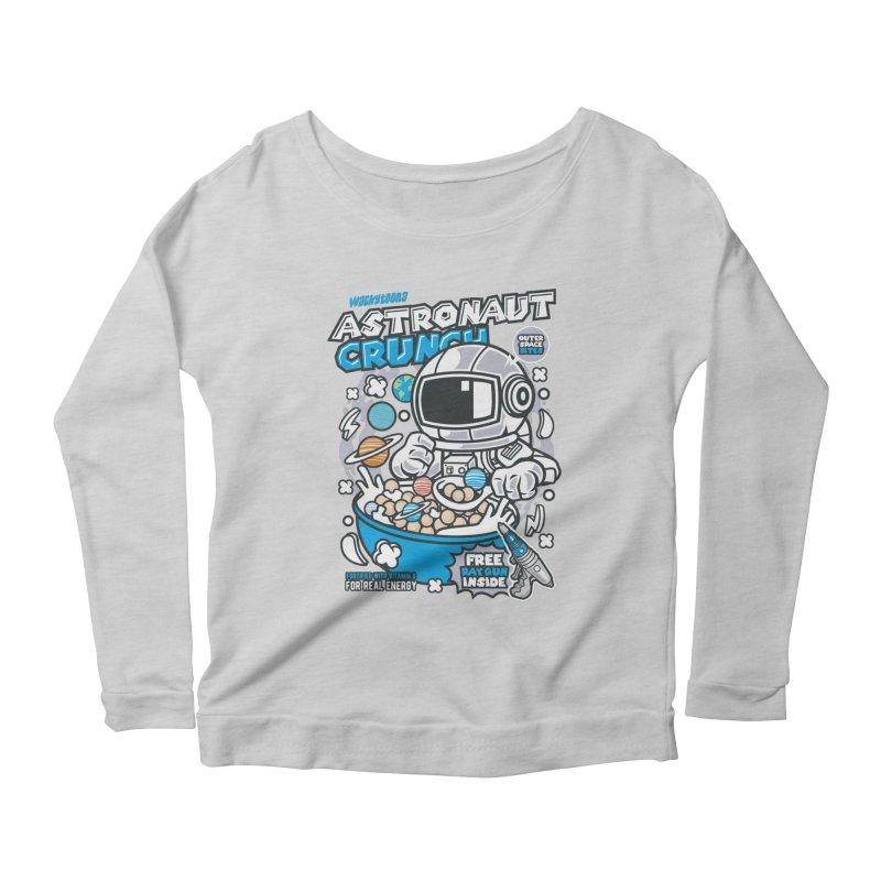 Astronaut Crunch Cereal Women's Scoop Neck Longsleeve T-Shirt by WackyToonz