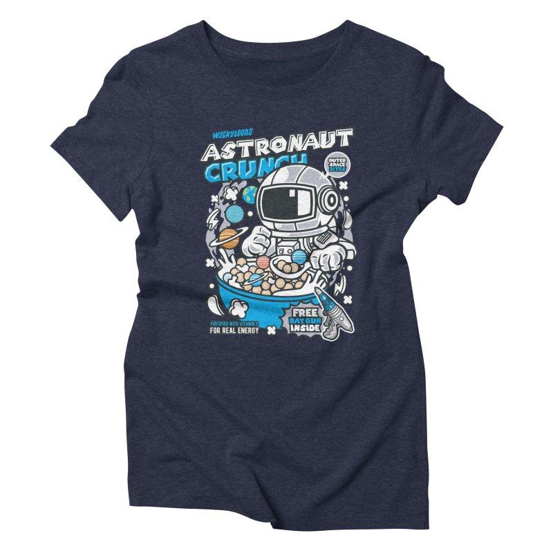 Astronaut Crunch Cereal Women's Triblend T-Shirt by WackyToonz