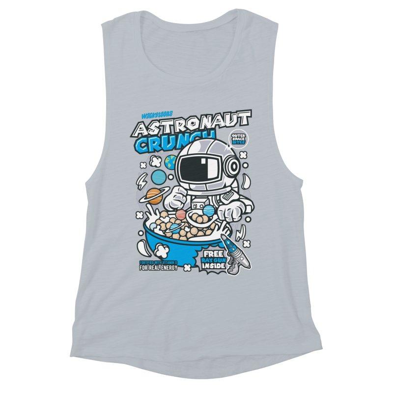 Astronaut Crunch Cereal Women's Muscle Tank by WackyToonz
