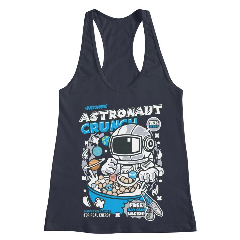Astronaut Crunch Cereal Women's Racerback Tank by WackyToonz