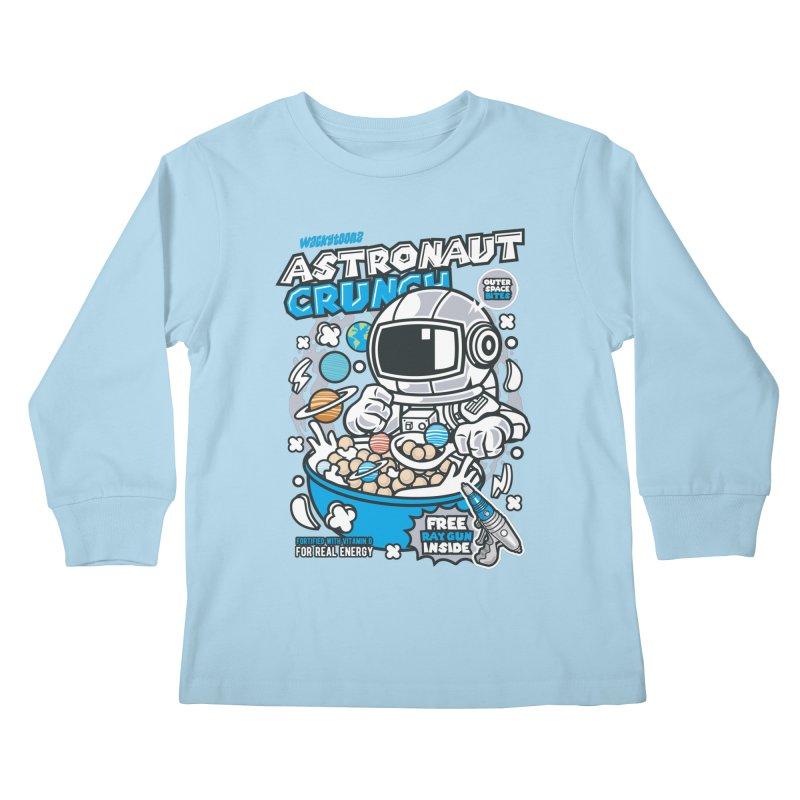 Astronaut Crunch Cereal Kids Longsleeve T-Shirt by WackyToonz
