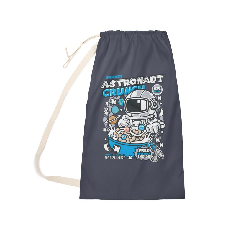 Astronaut Crunch Cereal Accessories Laundry Bag Bag by WackyToonz