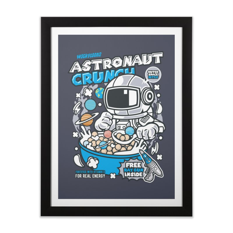Astronaut Crunch Cereal Home Framed Fine Art Print by WackyToonz