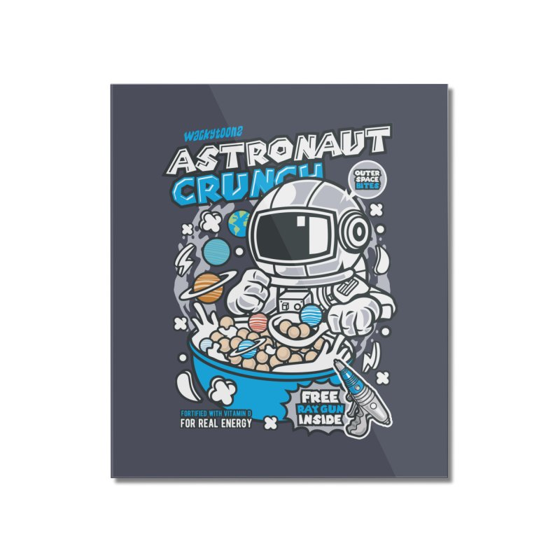 Astronaut Crunch Cereal Home Mounted Acrylic Print by WackyToonz