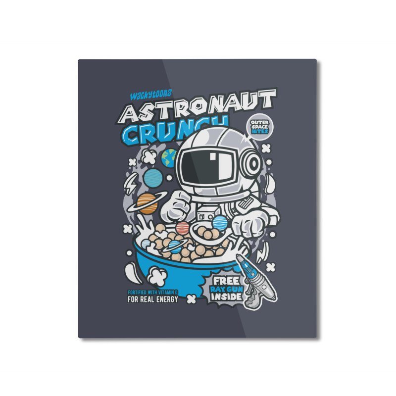 Astronaut Crunch Cereal Home Mounted Aluminum Print by WackyToonz