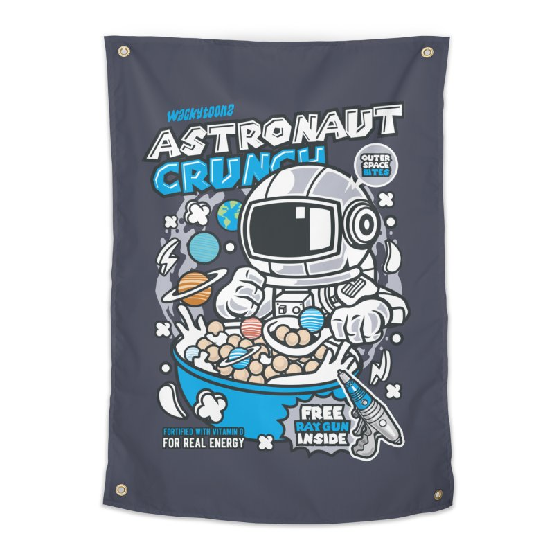 Astronaut Crunch Cereal Home Tapestry by WackyToonz