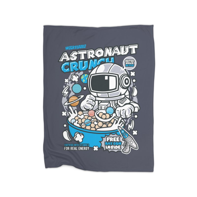 Astronaut Crunch Cereal Home Fleece Blanket Blanket by WackyToonz