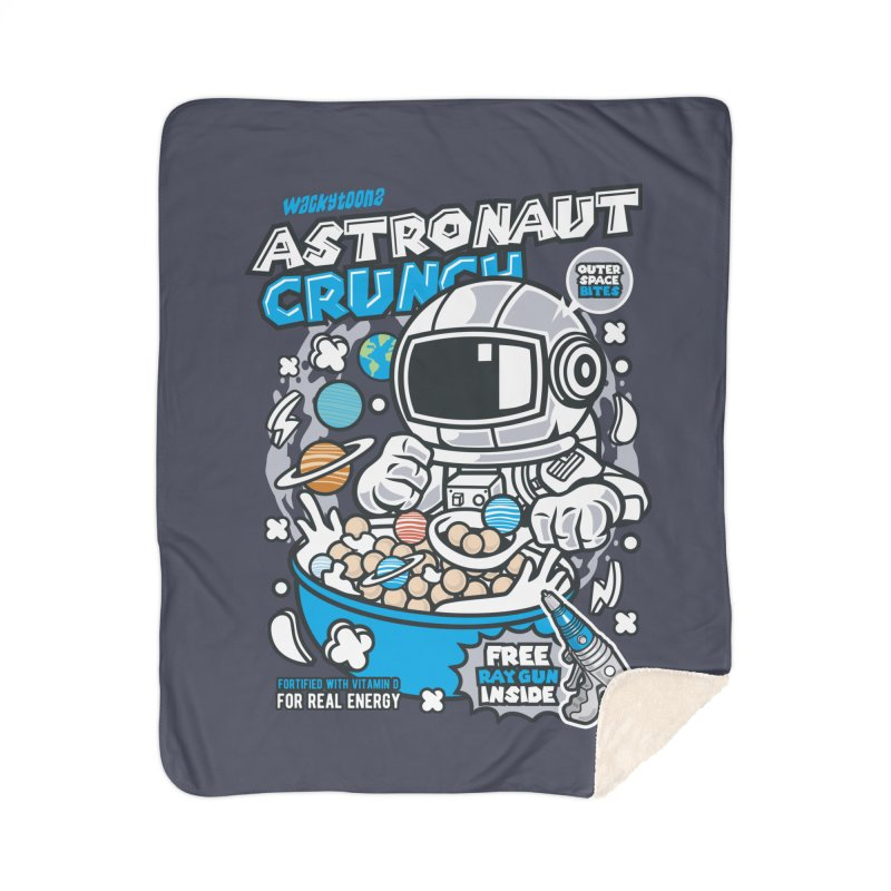 Astronaut Crunch Cereal Home Sherpa Blanket Blanket by WackyToonz