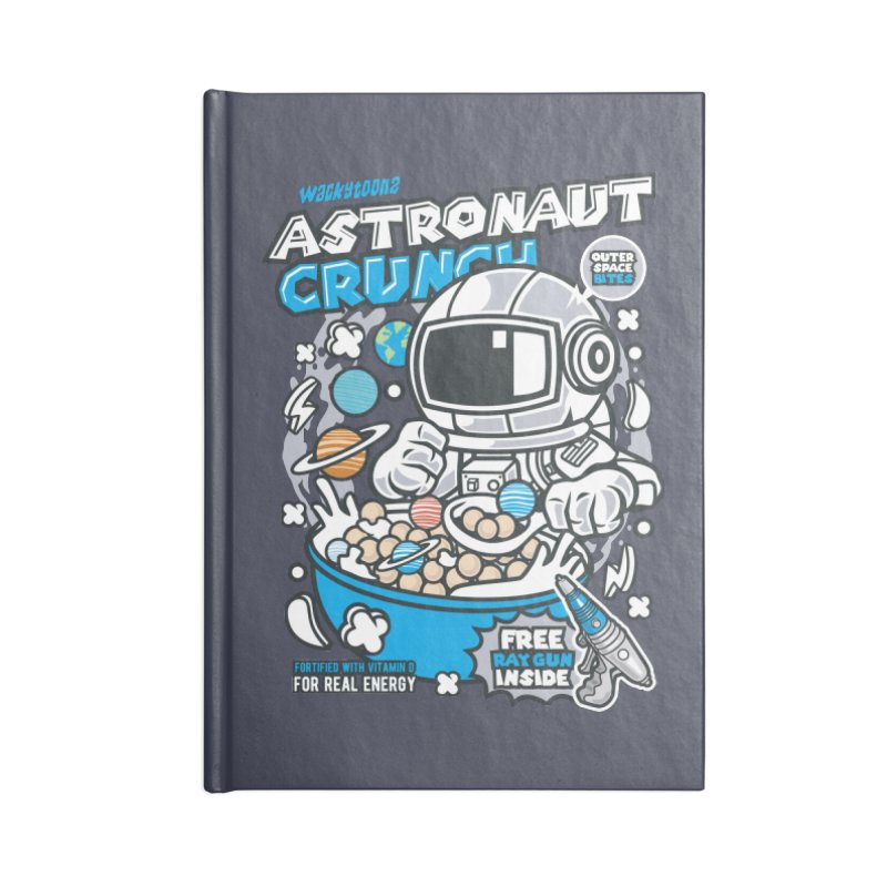 Astronaut Crunch Cereal Accessories Lined Journal Notebook by WackyToonz
