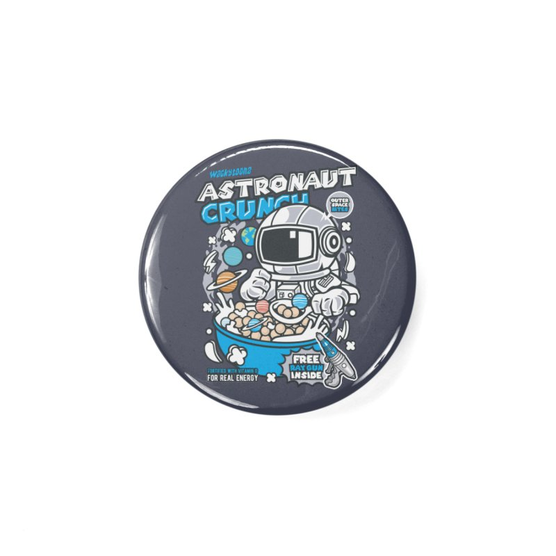 Astronaut Crunch Cereal Accessories Button by WackyToonz