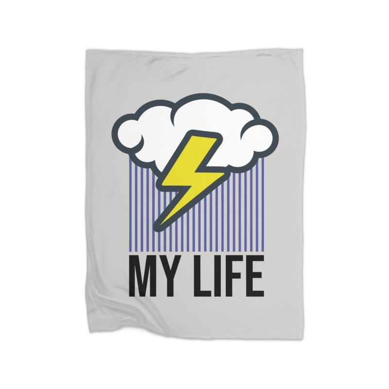 My Life Home Fleece Blanket Blanket by WackyToonz