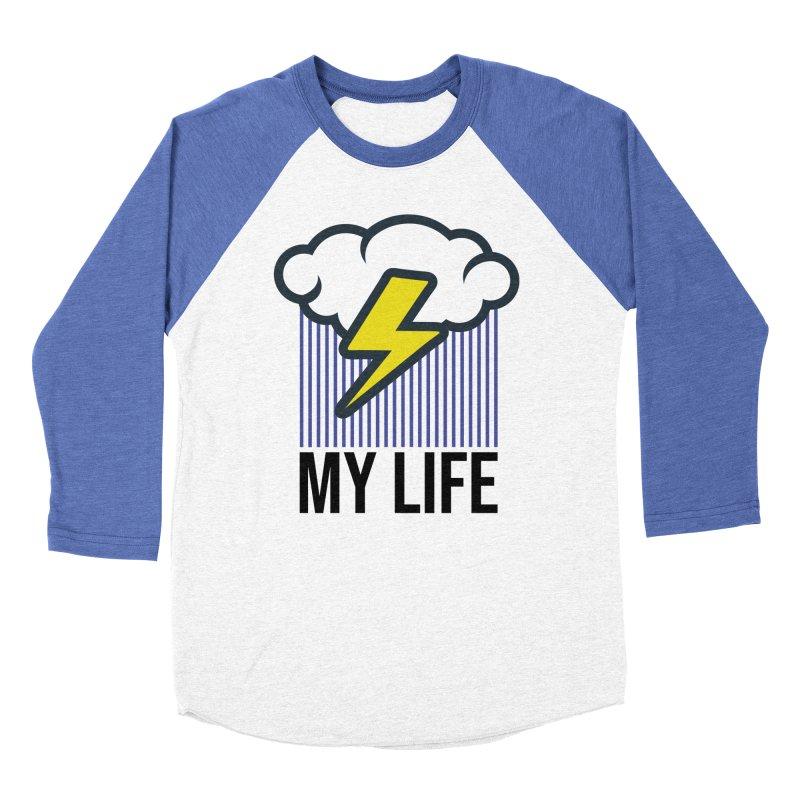 My Life Men's Baseball Triblend Longsleeve T-Shirt by WackyToonz