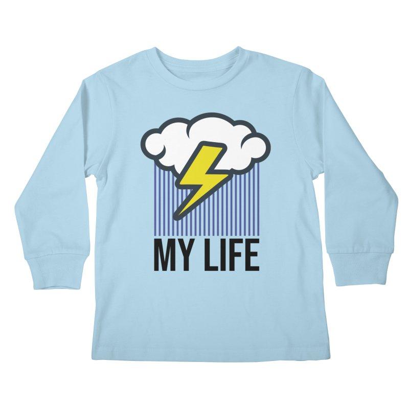 My Life Kids Longsleeve T-Shirt by WackyToonz