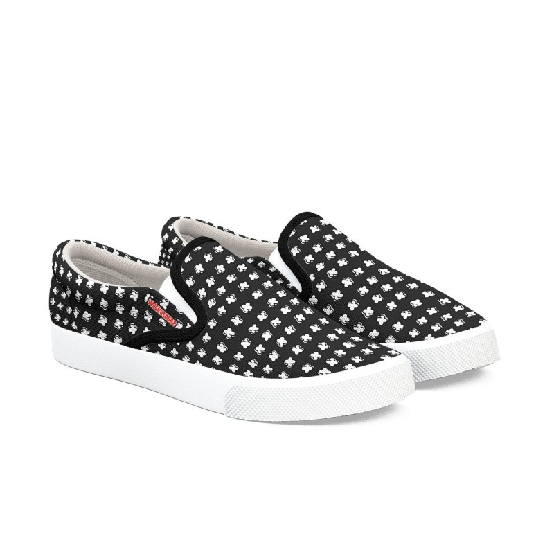 Xtreme Pattern Black in Men's Slip-On Shoes by WackyToonz