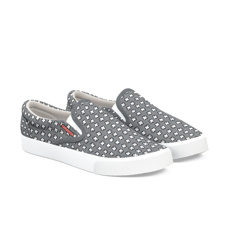 Xtreme Pattern Grey Men's Shoes by WackyToonz