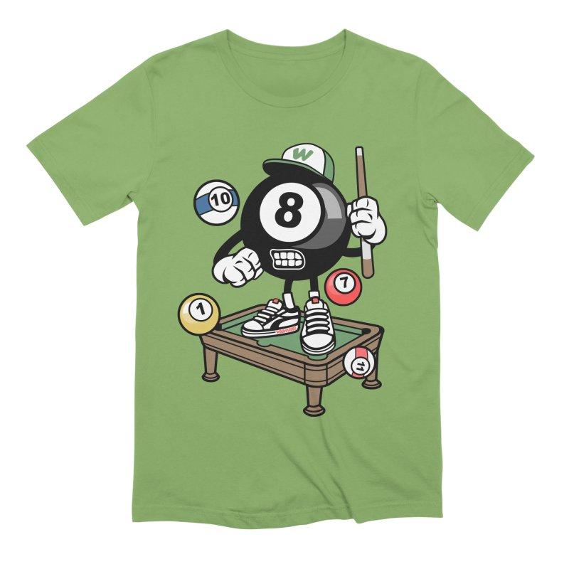 Pool Hall Hustle Men's Extra Soft T-Shirt by WackyToonz