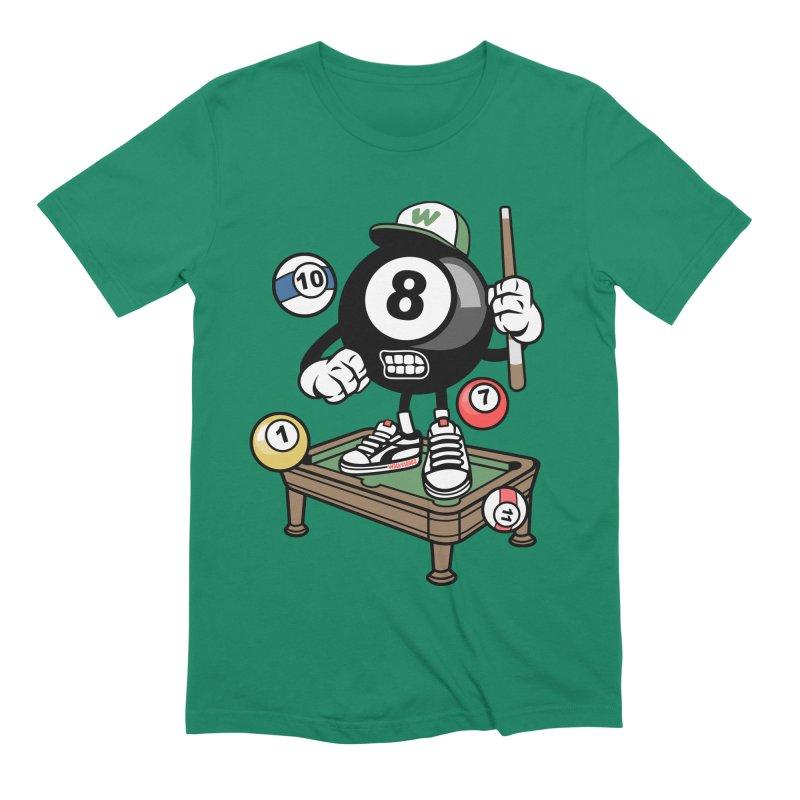 Pool Hall Hustle Men's T-Shirt by WackyToonz