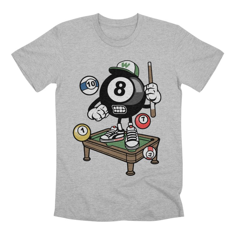 Pool Hall Hustle Men's Premium T-Shirt by WackyToonz