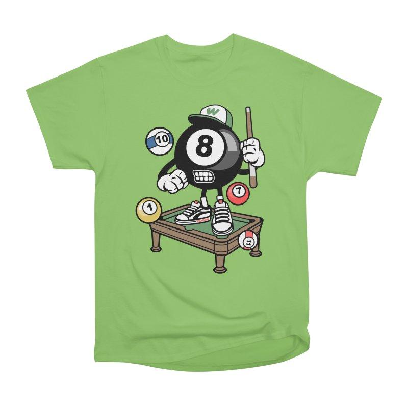 Pool Hall Hustle Men's Heavyweight T-Shirt by WackyToonz