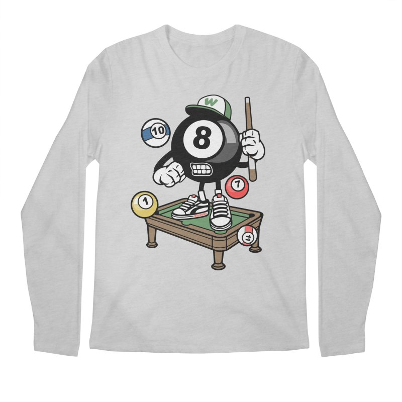 Pool Hall Hustle Men's Regular Longsleeve T-Shirt by WackyToonz