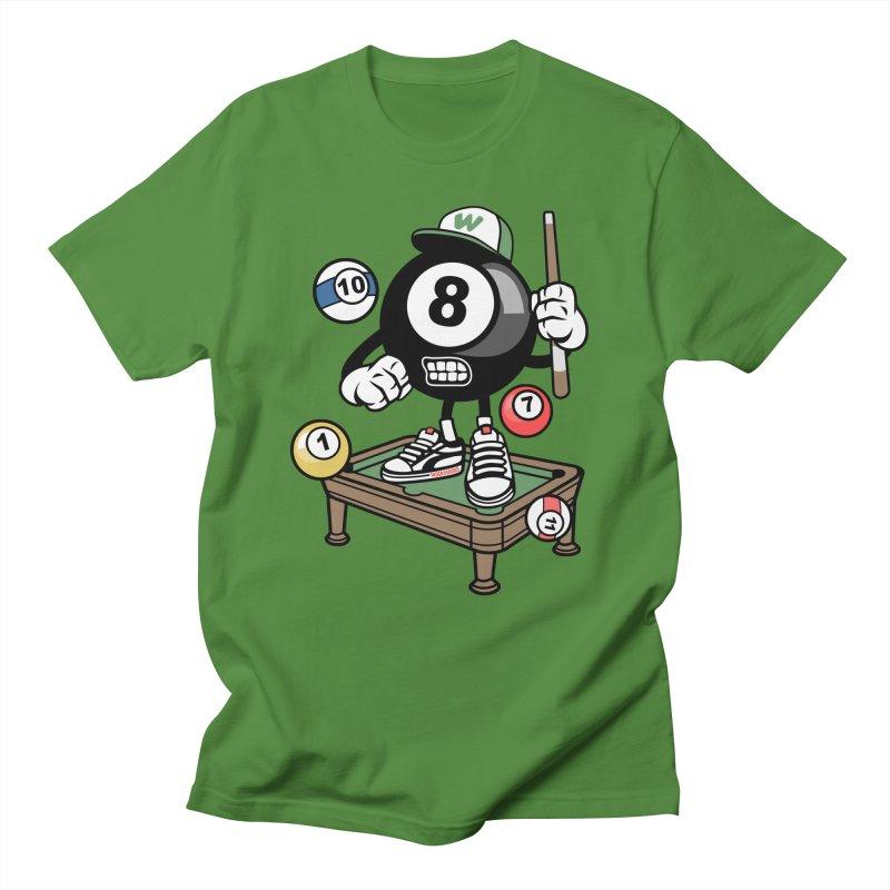 Pool Hall Hustle Men's Regular T-Shirt by WackyToonz