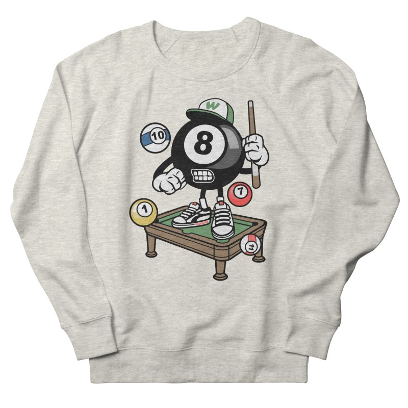 Pool Hall Hustle Men's French Terry Sweatshirt by WackyToonz