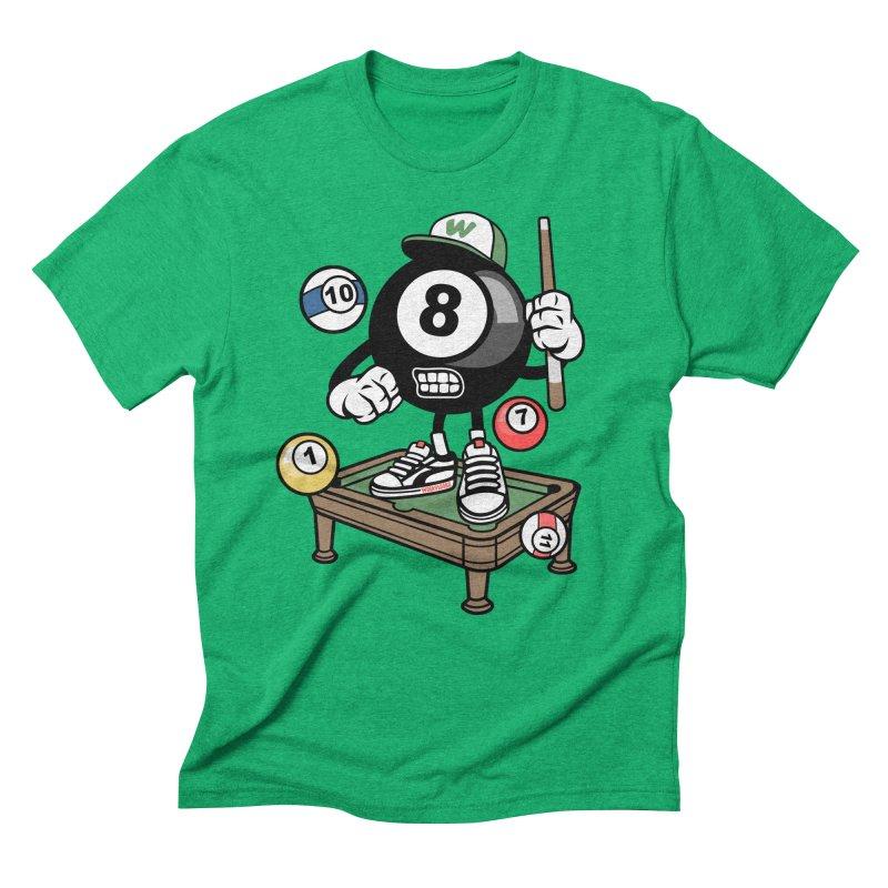 Pool Hall Hustle Men's Triblend T-Shirt by WackyToonz