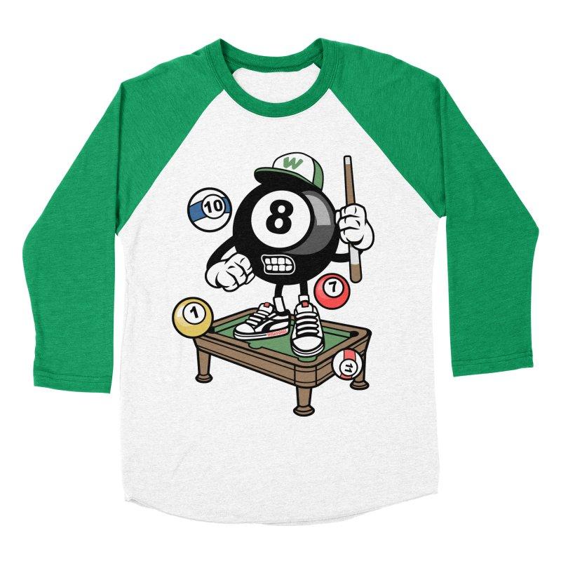 Pool Hall Hustle Women's Baseball Triblend Longsleeve T-Shirt by WackyToonz