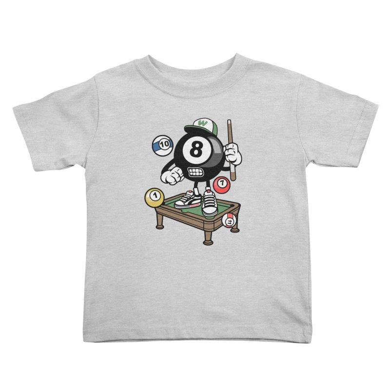 Pool Hall Hustle Kids Toddler T-Shirt by WackyToonz